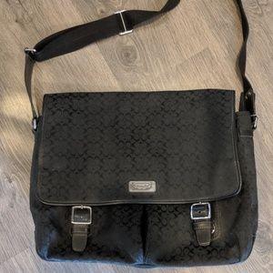Black Coach Computer Bag